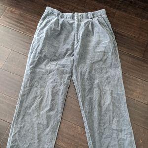 YSL Men's Grey Corduroy Pants